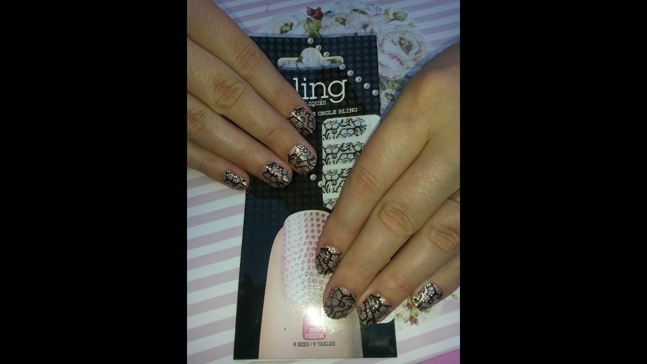 Como aplicar Stickers en uñas/how to apply nail stickers - YouTube