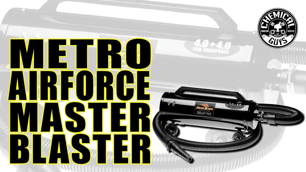 Master Blaster Car Dryer >> Metro Air Force Master Blaster Car & Bike Dryer - Chemical Guys Car Care - YouTube