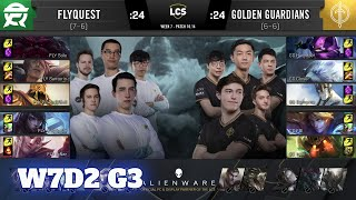 FlyQuest vs Golden Guardians | Week 7 Day 2 S10 LCS Summer 2020 | FLY vs GG W7D2