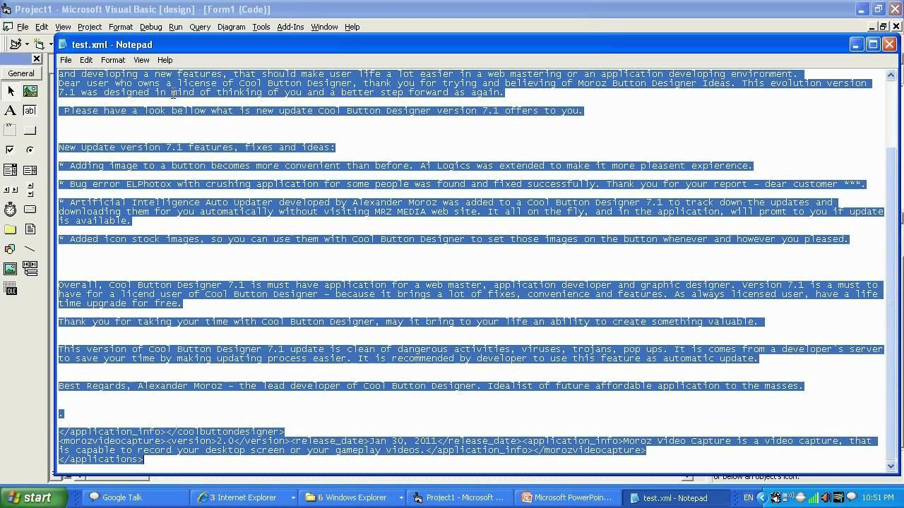 MSXML guide 101: read XML file using VB6 - pt 2 of 3