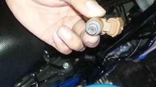 tutorial melepas injektor suzuki satria injeksi/Fi