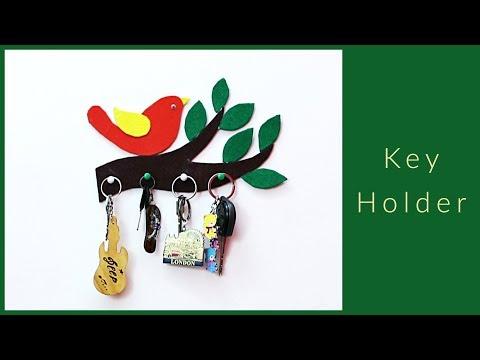DIY Key Holder I Easy & Useful Key Holder Idea from Cardboard