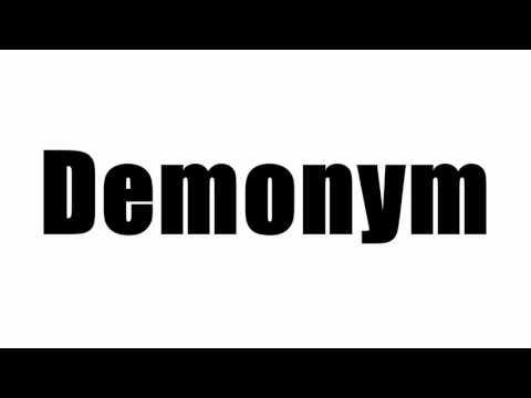 Demonym