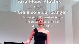 "Sara Ptachik  ""Gia il sole dal Gange"""