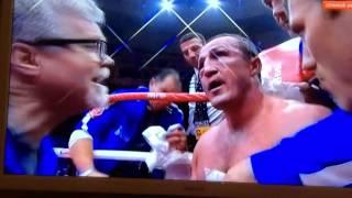 Концовка боя  Дениса Лебедева против Мурата Гассиева