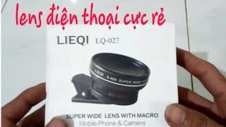 NHH - đập hộp lens gốc rộng quay phim cho điện thoại ( super wide lens with macro )