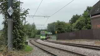 Trams in London (Croydon) at the beginning of October 2013 50fps