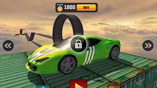 IMPOSSIBLE CAR 3D STUNT TRACKS 2018- Android / iOS Gameplay - Stunt Car Racing Games