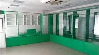 Мебель для аптеки на заказ. Обзор №1. Торговое оборудование для аптек. Аптечная мебель в Киеве.