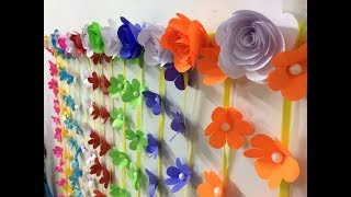 Back Ground Decoration For Festivals (Vara Lakshmi Pooja/Ganesh Chaturthi/Dussehra) - DIY