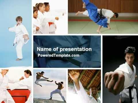 Karate powerpoint template by poweredtemplate youtube karate powerpoint template by poweredtemplate toneelgroepblik Images