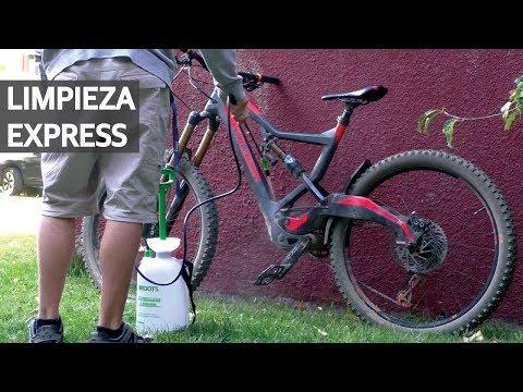 Lavado de tu Bicicleta 1 - Limpieza express con presurizador manual