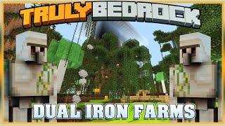 Truly Bedrock S1E53 Dual Iron Farms!!! | Minecraft Bedrock Edition SMP, MCPE, MCBE