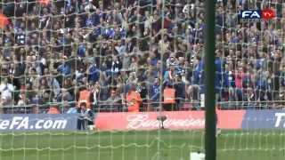 PITCH:CAM Liverpool 2-1 Everton - Suarez & Carroll goals pitchside highlights | FA Cup 15-04-12