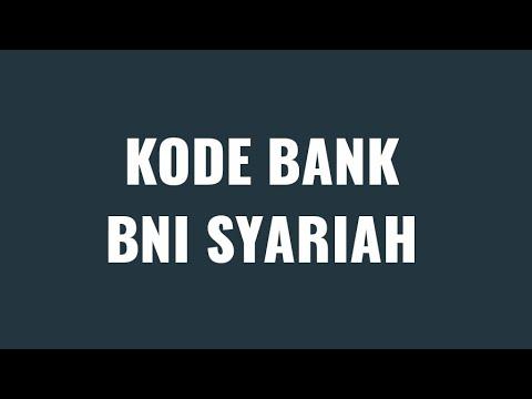 Kode BANK BNI SYARIAH - YouTube