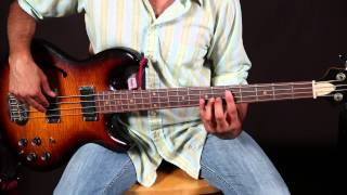 Bass Lessons - Basic 12 Bar Blues For Bass Guitar - Easy Basslines