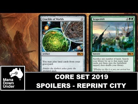 MTG Core Set 2019 Spoilers (M19): Crucible of Worlds and Scapeshift are BACK!!!