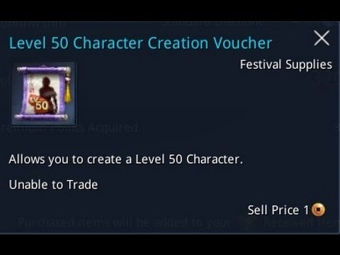blade soul level 50 character creation voucher