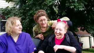 Micah Shows her SIGN LANGUAGE: Family Life with Cerebral Palsy