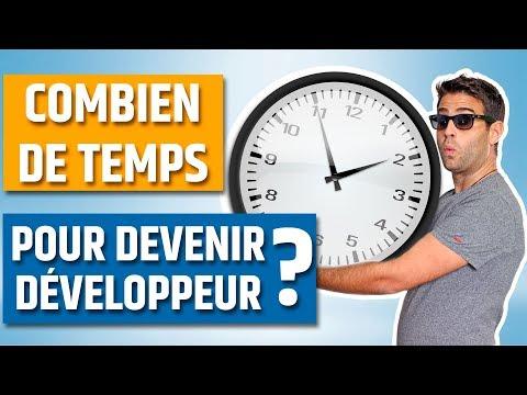 Combien de temps pour devenir développeur ?