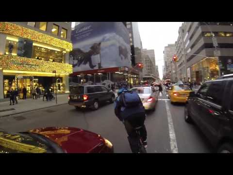 New York City Cyclists caught on GoPro Bicycle 1080p
