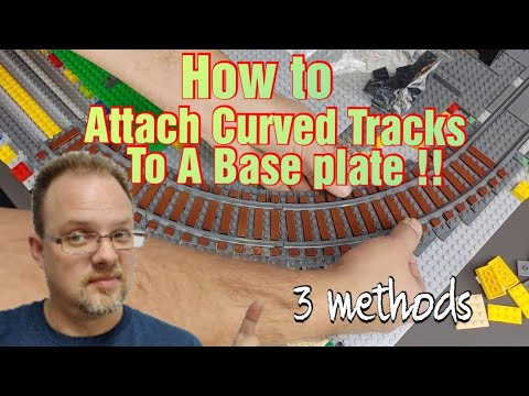 How To Attach Ballasted Curved Lego Train Tracks To A Baseplate.
