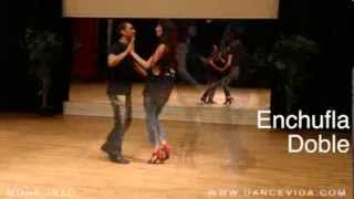 7 Salsa Cuban Basic Steps: Enchufla Doble