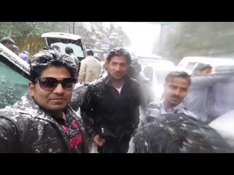 tourist enjoy Season's first Snowfall in Nainital Uttarakhand