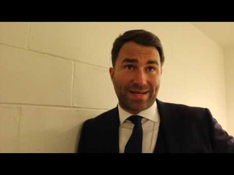 EDDIE HEARN REACTS TO JAMES DeGALE DRAW WITH BADOU JACK & CLARIFIES CALLUM SMITH SITUATION