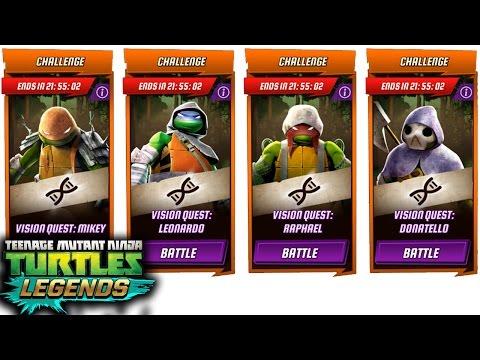 ALL TMNT VISION QUEST Challenge. Teenage Mutant Ninja Turtles: Legends Gameplay 2016
