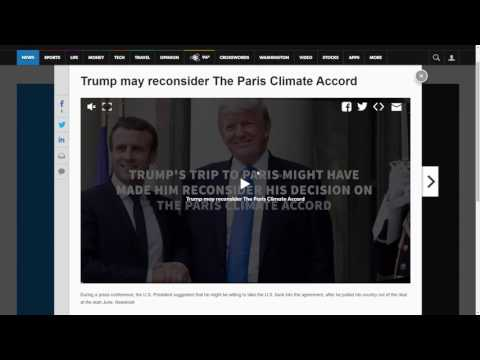President Trump to Consider Rejoining Paris Climate Accord