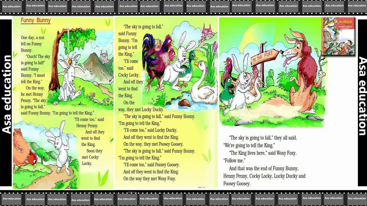 Ch 5 Funny Bunny (English - Marigold, Grade 2, CBSE) Story in Easy  Hindi/English