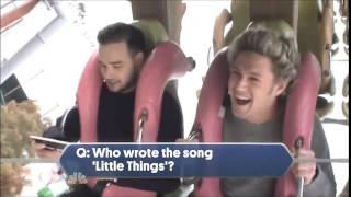 Liam quizzing the boys on a Roller Coaster - One Direction TV Special [HD]