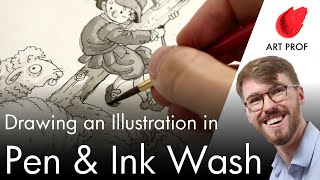 Pen & Ink Wąsh Illustration Techniques: Rapidograph Pen & India Ink