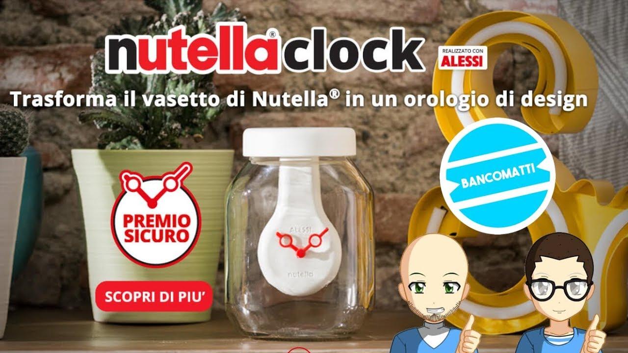 Lampada Barattolo Nutella Concorso : Tutorial come richiedere orologio nutella alessi nutella clock