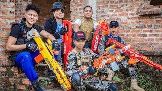 LTT Nerf War : Couple Police SEAL X Warriors Nerf Guns Fight Crime Group Dr Lee One Eye