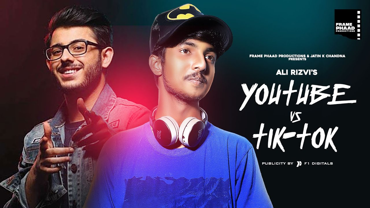 Youtube vs Tiktok - Ali Rizvi | #ISUPPORTCARRYMINATI | #YALGAAR | Latest TikTok Song 2020