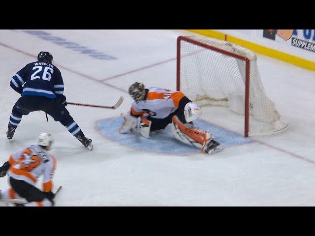 Blake Wheeler breaks in to roof gorgeous shorthanded goal