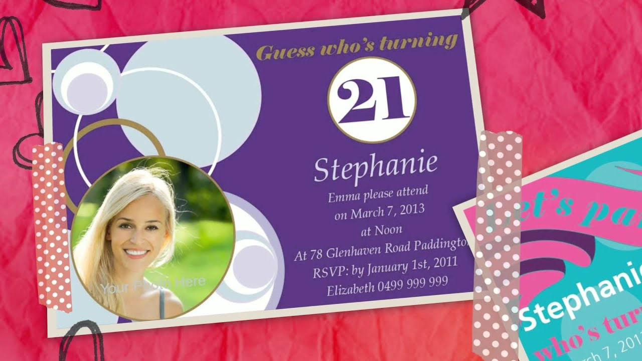 21st Birthday Invitations YouTube – 21st Birthday Invitations Ideas