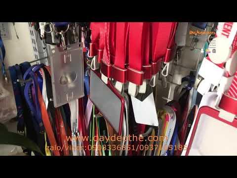 dây đeo thẻ  sọc  đỏ sọc  đen  móc nhôm -bao đeo thẻ nhôm
