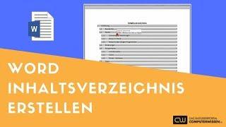 Word - Inhaltsverzeichnis erstellen - TUTORIAL