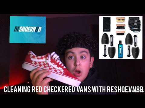 Cleaning Red Checkered Vans With Reshoevn8r