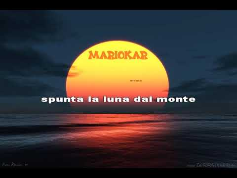Tazenda & Bertoli   Spunta La Luna Dal Monte Karaoke