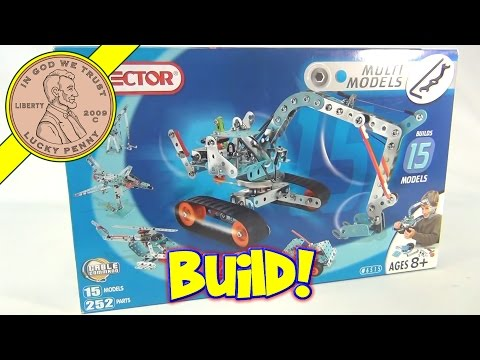 Erector Set - 15 Multi Models 252 Parts Cable Command No. 6515, 2004 Meccano Toys
