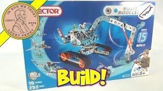 Erector Set - 15 Multi Models 252 Parts Cable Command No. 6515, 2004 Meccano Toys