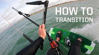 How to turn ar๐und / transition kitesurfing
