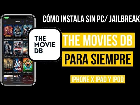 Como instalar THE MOVIE DB permanente en tu iPhone X  iPad| películas | series| descarga |subtitulo