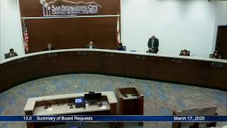 Board of Education Meeting - March 17, 2020