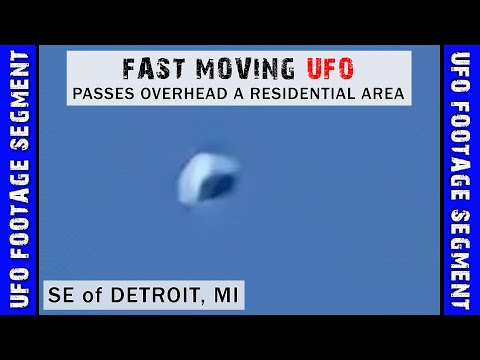 UFO SIGHTING VIDEO • Fast Moving Object • SE of Detroit MI