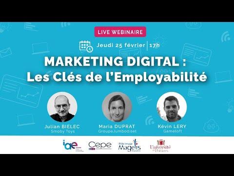 Webinaire - MARKETING DIGITAL : Les Clés de l'Employabilité
